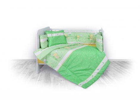 Lorelli 5 részes ágyneműgarnitúra - Little Ducks green